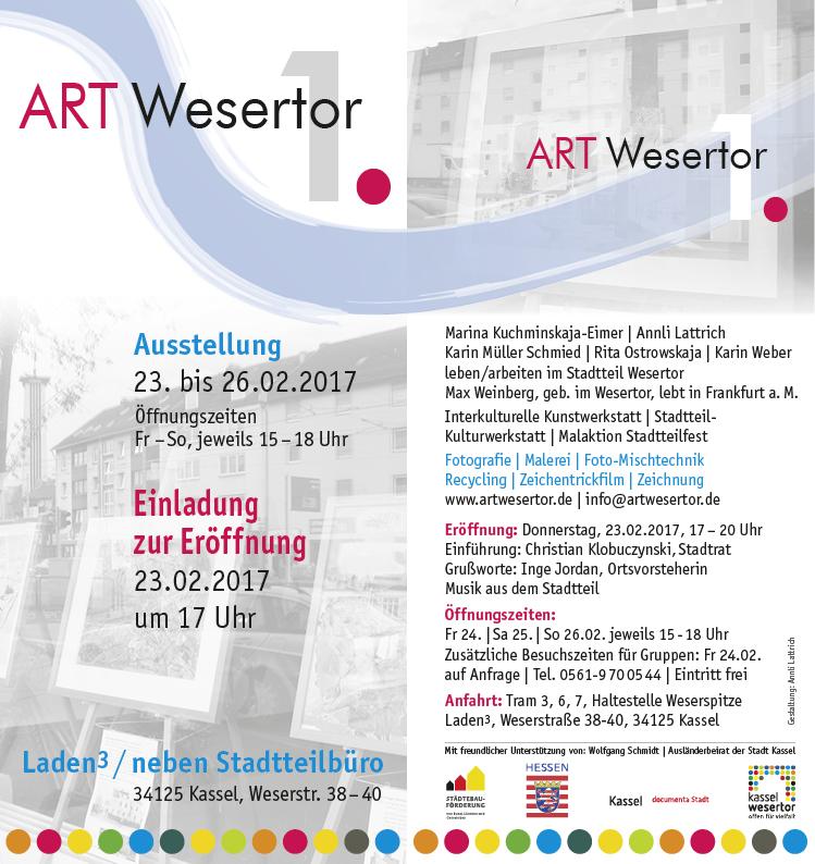 Bild vom Flyer mit Infos zur Ausstellung